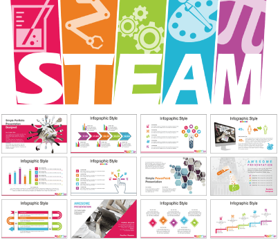 Steam Education free education powerpoint template