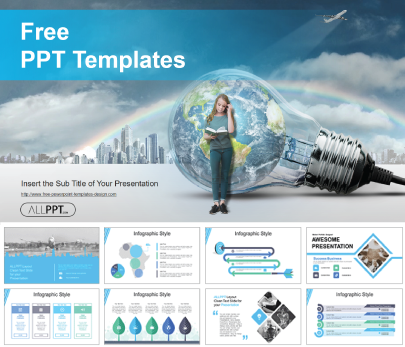 Global Education Solution free education powerpoint template