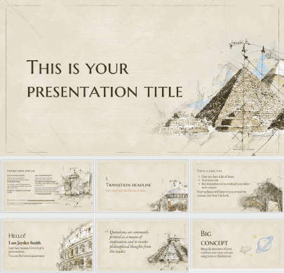 Historical Architecture free education powerpoint template