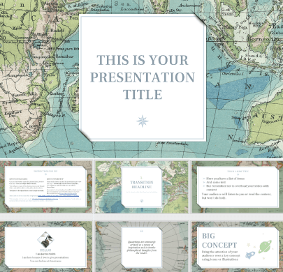 Vintage Geography free education powerpoint template