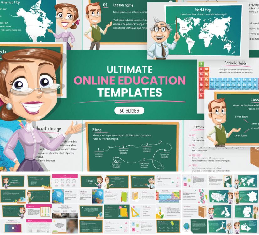 Ultimate Online Education Presentation Templates free education powerpoint template