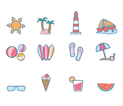 Free Vector Beach Icons