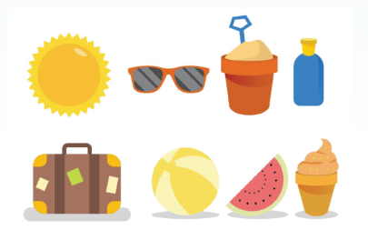 Free Beach Holiday Icon Pack