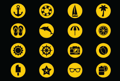 Free Simplistic Vector Summer Icons