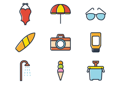 Free Summer Items Icons