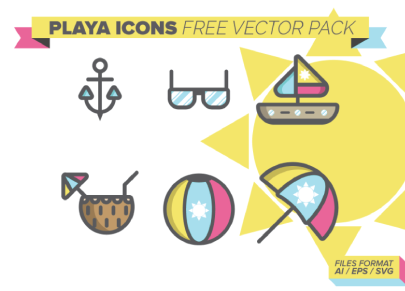 Free Stroked Playa Icons