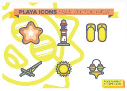 Free Vector Pack Playa Icons