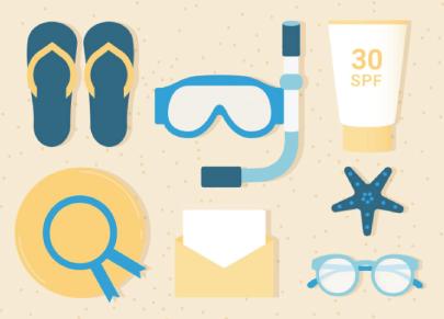 Free Flat Summer Icons
