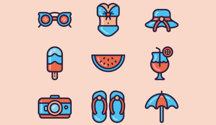 Free Duotone Summer Icons