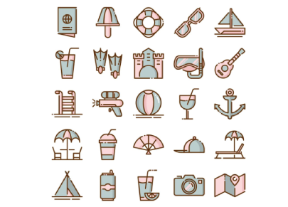 Free Summer Activities Icons