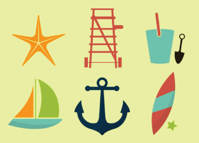 Free Summer Vacation Icon Pack