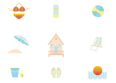 Free Vacation Vector Set