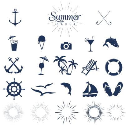 Free Mono Summer Icons