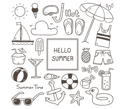 Free Hand-Drawn Summer Icons