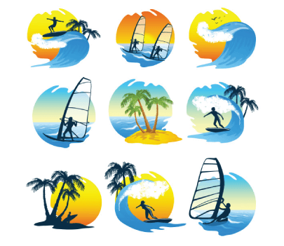 Free Surf Illustration Icons