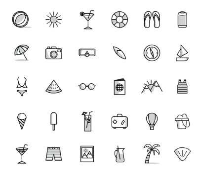 Free Simplistic Outline Icons