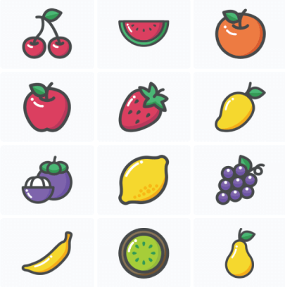 Free Fruity Summer Icons