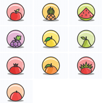 Free Splash of Fruit Icon Set