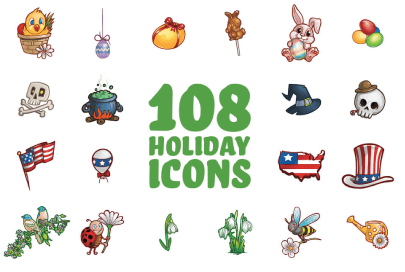 free icon set holiday by graphic mama