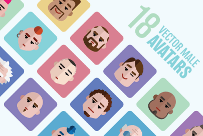 free icons male avatars by graphic mama