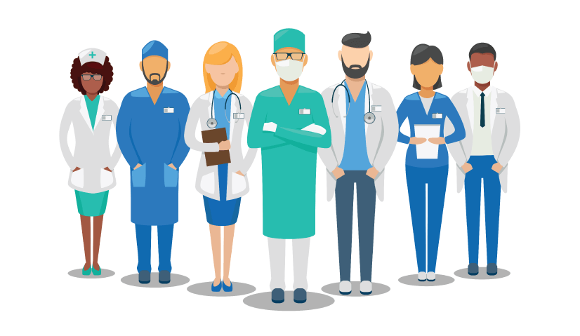 Free Medical Team Illustration