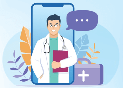Free Online Healthcare Medical Video Call Illustration