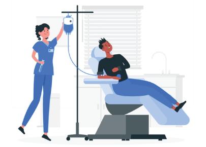 Free Donating Blood Cartoon Illustration