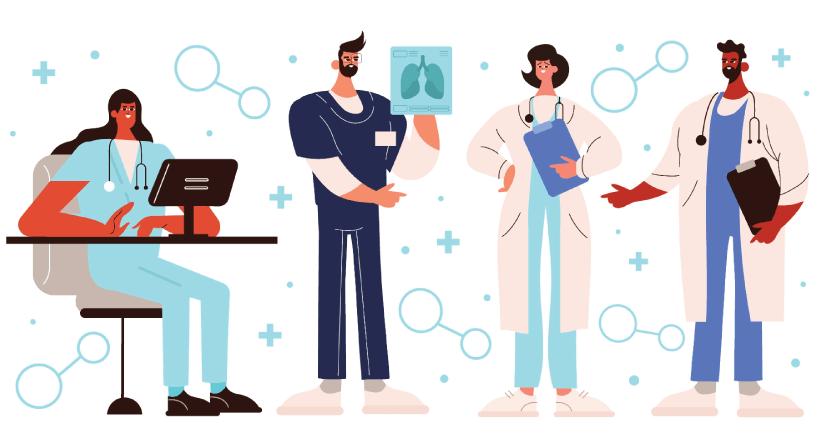 Free Organic Medical Team Illustration