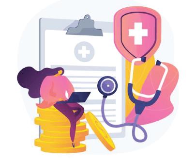 Free Health Insurance Illustration Concept