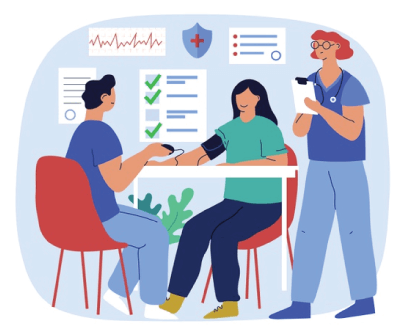 Free Cartoon Medical Check Graphic Illustration