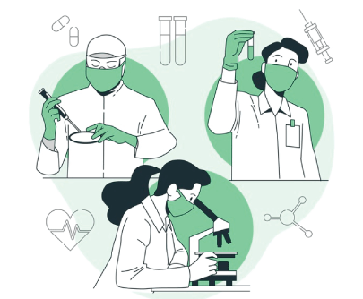 Free Green Medical Research Illustration