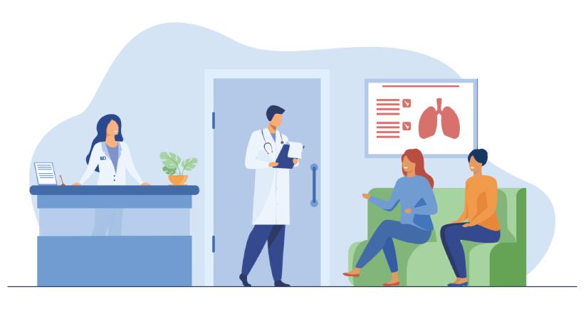 Free Hospital Waiting Room Illustration