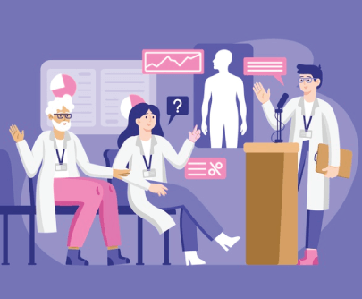 Free Medical Conference Cartoon Illustration