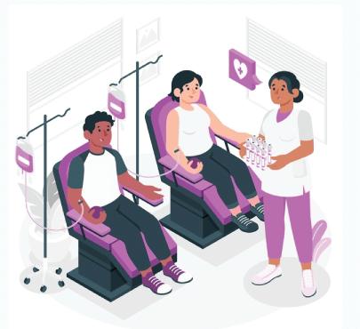 Free Medical Blood Donation Concept Illustration