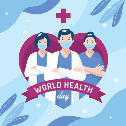 Free World Health Day Illustration Design