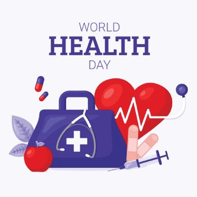 Free World Health Day Illustration Concept