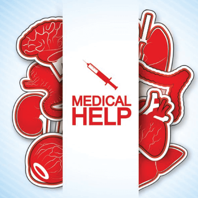 Free Medical Help Illustrated Poster Design