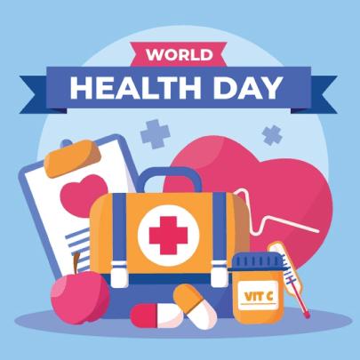 Free World Health Day Cartoon Concept