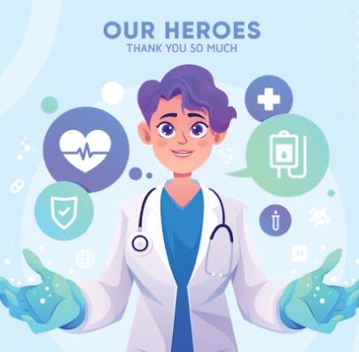 Amazing Free Thank You Doctor Illustration