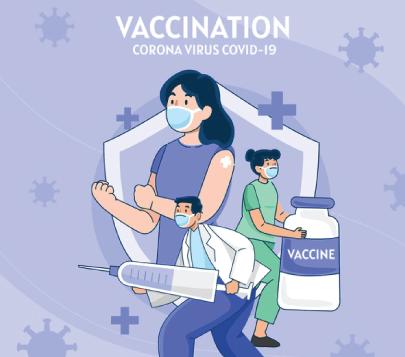 Free Vaccination 2 Cartoon Graphic
