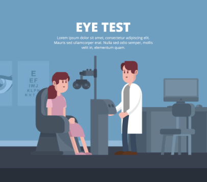 Free Eye Test Illustration Template