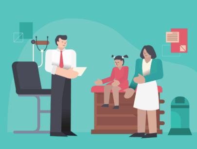 Free Medical Checkup Receipt Illustration