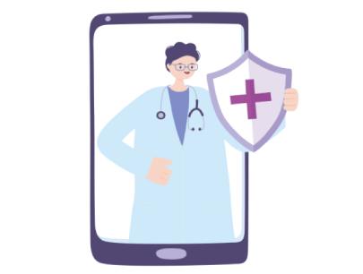 Free Doctor Shield Cartoon Medical Illustration