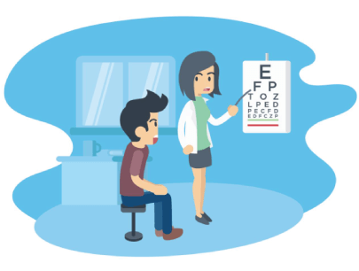 Free Eye Testing Medicine Illustration