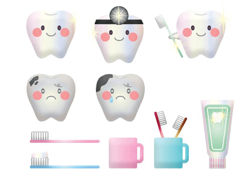 teeth free medical illustration dentist