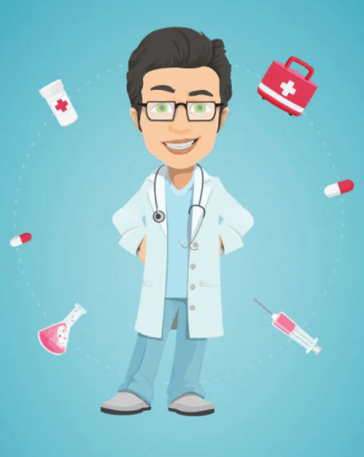 Free Doctor With Tools Illustration Graphic - Vector Characters