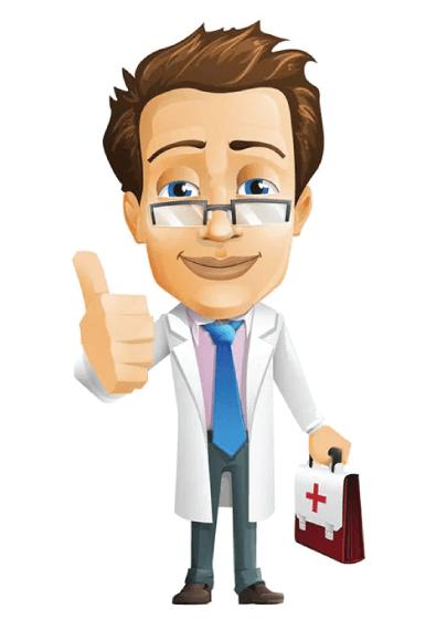 Free Doctor Vector Character Graphic - VectorCharacters