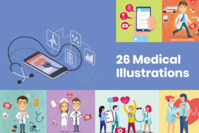 26 Medical Illustrations by GraphicMama