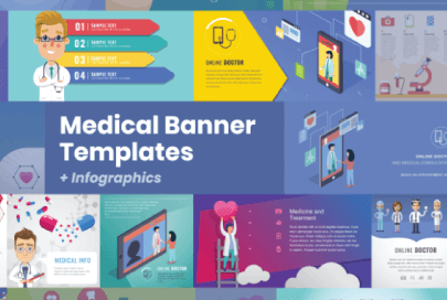 Medical Banners and Infographics by GraphicMama