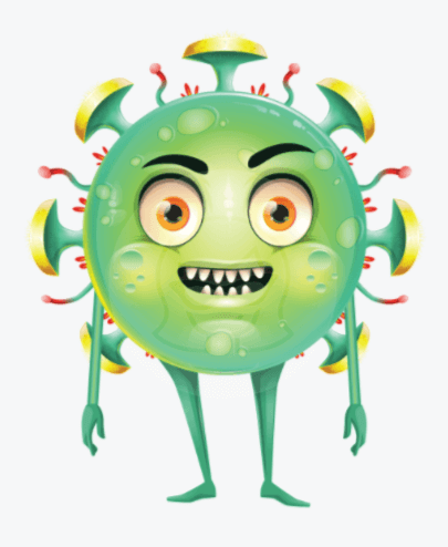 Cartoon Style Virus Puppet for Character Animator by GraphicMama